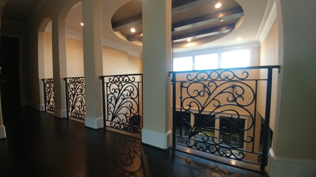Custom Decorative Wrought Iron Balcony Handrails in College Station, TX – By Art's Fencing